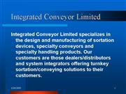 Integrated Conveyor Limited 2