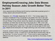 EmploymentCrossing Jobs Data Shows Holiday Season Jobs Growth