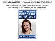 HAIR LOSS WOMEN  FEMALE HAIR LOSS TREATMENT