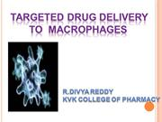 Targeted  drug delivery to macrophages