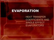 EVAPORATION