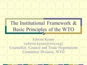 Basic Principles WTO