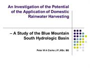 An Investigation of the Potential of Domestic Rainwater Harvesting