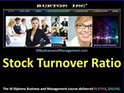 IB Business and Management - Stock Turnover Ratio