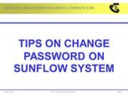 SUNFLOW PASSWORD CHANGE