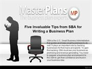 Five Invaluable Tips from SBA for Writing a Business Plan