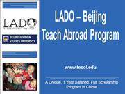 LADO - Beijing Teach in China Program!