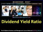 IB Business and Management - Dividend Yield Ratio