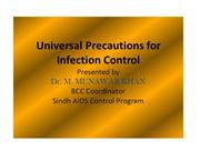 Universal Precautions for Infection Control