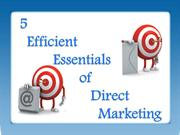 5 Efficient Essentials of Direct Marketing