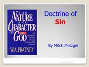 The Doctrine of Sin by Mitch Metzger