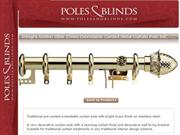 Poles and Blinds curtain poles collection