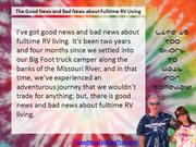The Good News and Bad News About Fulltime RV Living