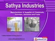 Industrial Organic Solvents by Sathya Industries, Bengaluru