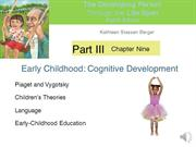 DP Chapter 9  Early Childhood - Cognitive  Development Narrated