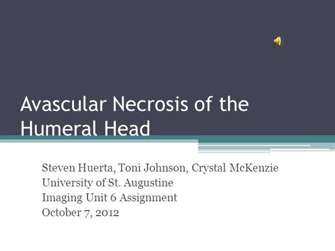 Avascular Necrosis Of The Humeral Head Authorstream