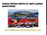 Springhill group seoul, korea - China paper hints at anti-Japan sancti