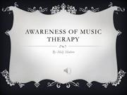 Awareness of Music Therapy