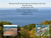 Historical and Current Impacts of Mining in the Lake Superior Basin