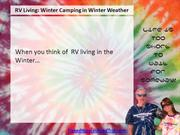 RV Living: Winter Camping in Winter Weather