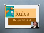 Rules Digital Book Trailer