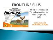 FRONTLINE PLUS to Protect Your Pets