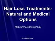 Hair Loss Treatments- Natural and Medical Options
