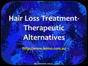 Hair Loss Treatment- Therapeutic Alternatives
