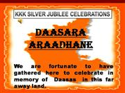 A TRIBUTE TO GREAT DASAS AND SHARANAS