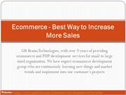 Ecommerce - Best Way to Increase More Sales