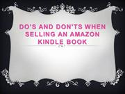Dos and Donts When Selling an Amazon Kindle Book