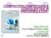 Compaction,Compression and consolidation