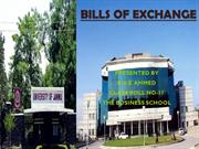 Bills Of Exchange ppt PGDBM Jammu University By-Riaz