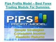 Pips Profits Model  Best Forex Trading Module For Dummies