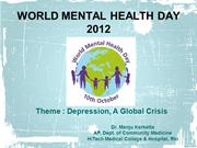 World Mental Health Day 2012
