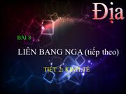 Dl11 Tit 19 Bi 8: Lin Bang Nga Tit 2: Kinh t
