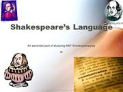 Shakespeare´s language