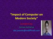 Impact of Computer on Modern Society