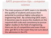 GATE preparation tips