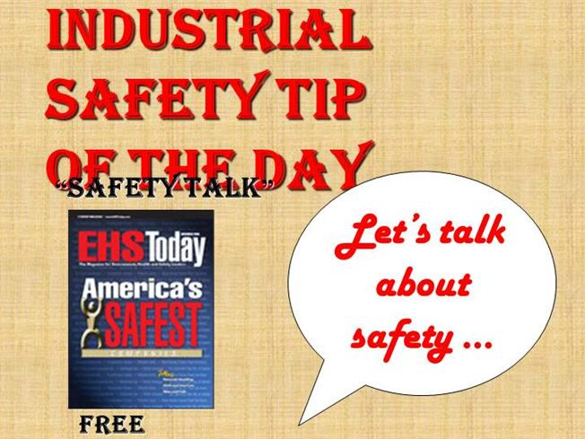 Industrial Safety Tip Of The Day Authorstream