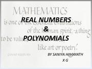 real nos. and polynomials