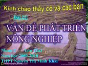 DL12 Bi 22. Vn  pht trin nng nghip
