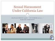 Sexual Harassment Powerpoint
