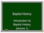 Baptist History PPT _1A