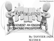knowledge management an engine in economic prosperity