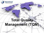 Total Quality Management by Operational Excellence Consulting