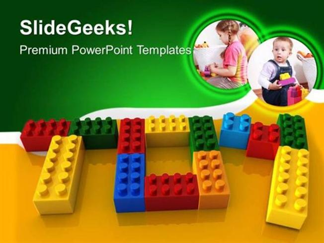 Baby toy word with lego children ppt template powerpoint template related powerpoint templates toneelgroepblik Images