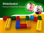 BABY TOY WORD WITH LEGO CHILDREN PPT TEMPLATE