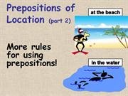 prepositions of location2