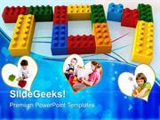 BABY TOY WORD WITH LEGO GAME PPT TEMPLATE